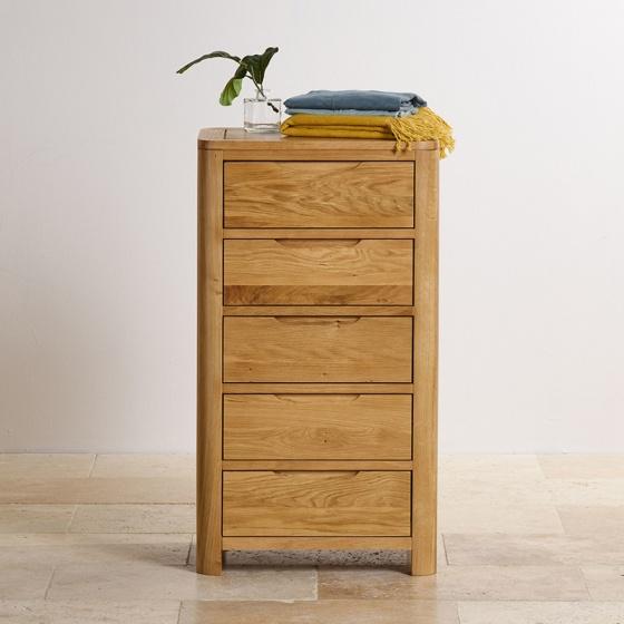 Tủ ngăn kéo Romsey 5 hộc gỗ sồi