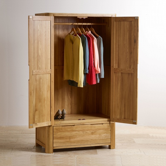 Tủ quần áo 2 cánh Romsey gỗ sồi 1m0