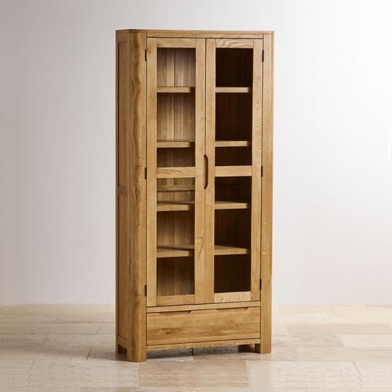 Tủ trưng bày Romsey 2 cánh kính gỗ sồi - IBIE