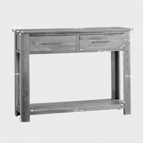 Bàn console Rivermead gỗ sồi - IBIE