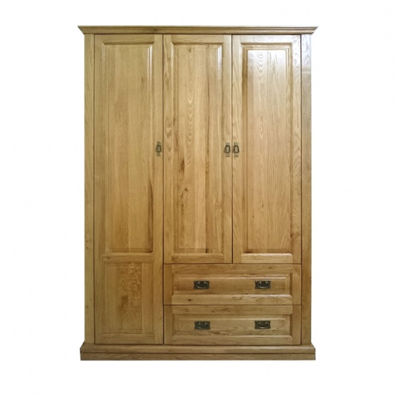 Tủ quần áo Pano 3 cánh gỗ sồi 1m6