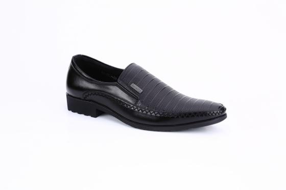 Giày lười da nam IS202 màu đen
