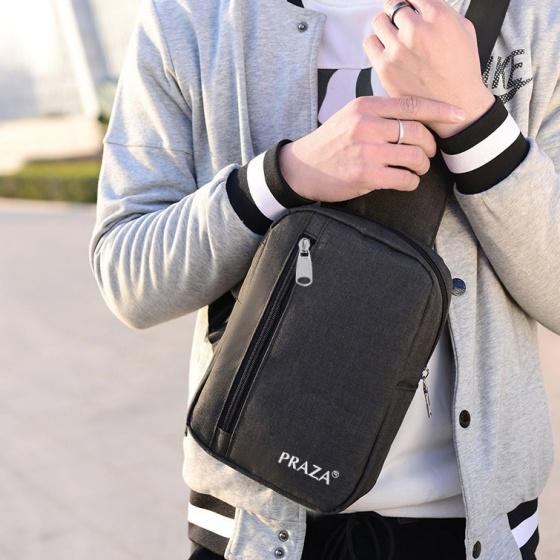 Combo balo laptop quai nhôm cao cấp và túi đeo chéo Praza - BL159DC095