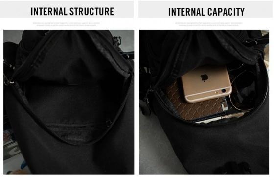 Combo balo Hàn Quốc và túi đeo chéo Praza - BL160DC108
