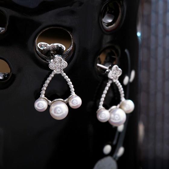 Bộ trang sức bạc ngọc trai For Lady