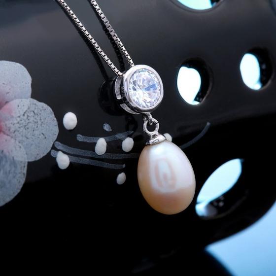 Bộ trang sức bạc ngọc trai Color Life