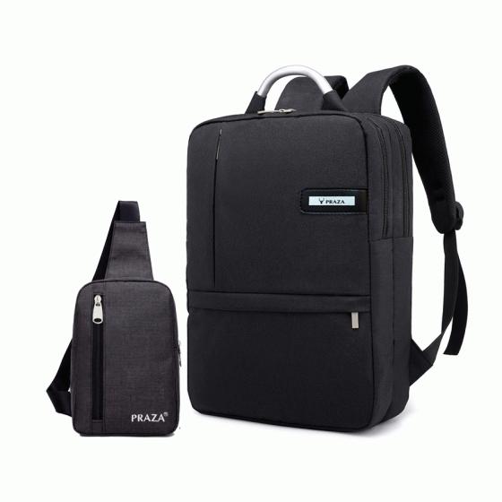 Combo balo laptop công sở unisex và túi đeo tiện dụng Praza - BL166DC095