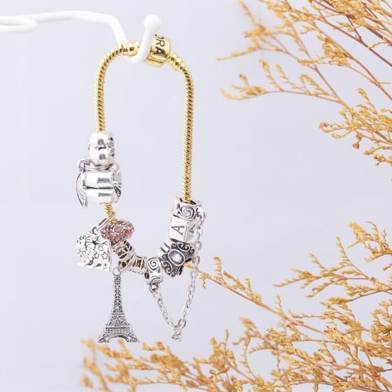 Opal - Vòng tay charm xi vàng tặng kèm dây chuyền bạc 250.000đ_ T12