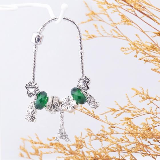 Opal - Vòng tay charm xi bạc năng động tặng kèm dây chuyền bạc trị giá 250.000đ_ T12