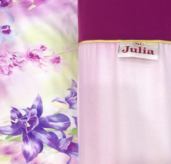 Bộ vỏ chăn ga gối lụa tencel tơ tằm Hàn Quốc Julia siêu mát mịn (bộ 5 món có vỏ chăn)-849BM16