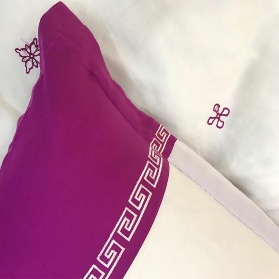Bộ vỏ chăn ga gối lụa tencel tơ tằm Hàn Quốc Julia siêu mát mịn (bộ 5 món có vỏ chăn)-847BM16