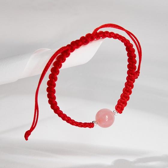 Vòng tay thắt dây đỏ đá thiên nhiên mang đến phú quý Ngọc Quý Gemstones