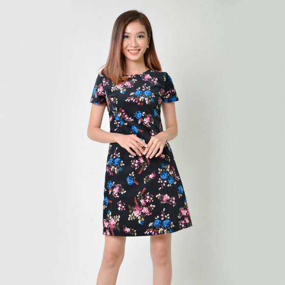 Đầm suông thời trang Eden in hoa - D337