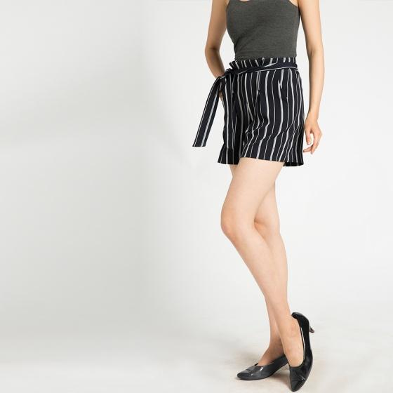 Quần shorts lưng xếp ly Hity PAN033 (sọc xanh thủy thủ sailor)