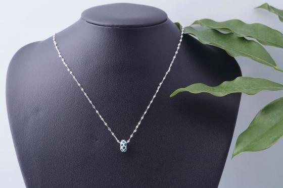 Opal - Vòng tay charm nhẹ nhàng tặng kèm một dây chuyền bạc nữ tính 250.000đ _ T12