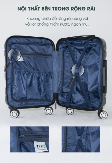 Vali chống trộm Trip PC912 size 60cm (24inch) đỏ