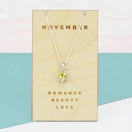 Opal - dây chuyền bạc kèm mặt đá theo tháng sinh _ tháng 11 _T01