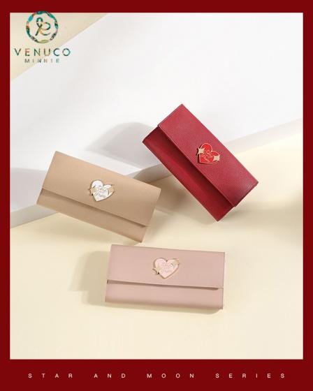 Ví da thật tim Venuco Madrid W103 (3 màu)
