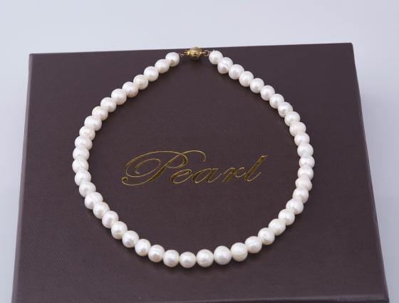 Opal -Vòng cổ ngọc trai tự nhiên trắng_ T01