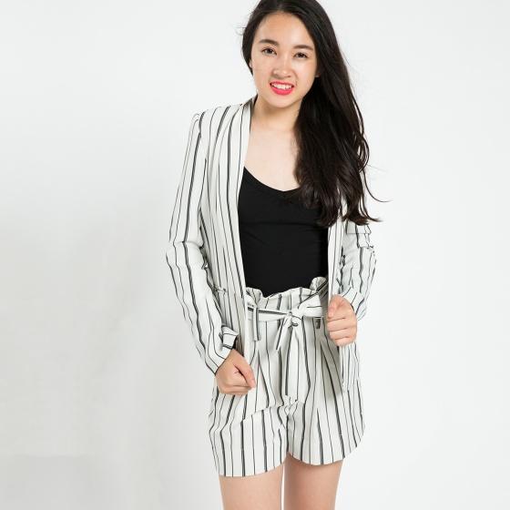 Áo khoác blazer Hity TOP086 (sọc trắng kim cương)