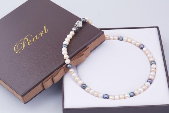 Opal - Vòng cổ ngọc trai tứ quý sang trọng _ T01