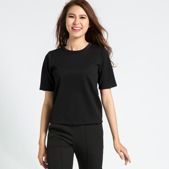 Áo tshirt phối voan Hity TOP071 (đen huyền bí)