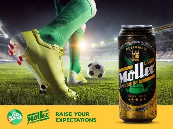 Thùng 24 lon - Bia Nhập Khẩu Moller Premium Lager - 330 ml, Alc 5,0%