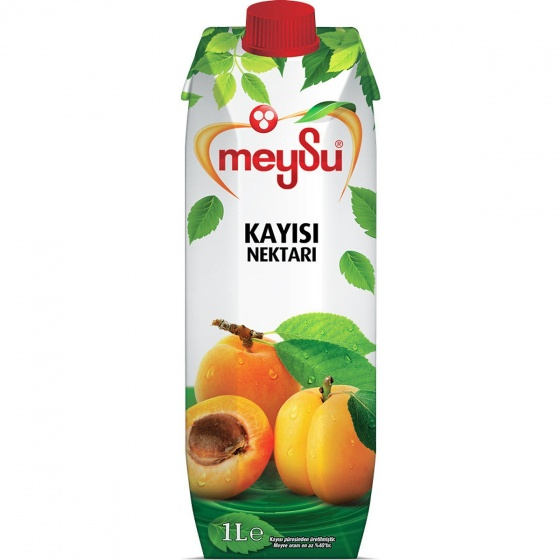 Thùng 12 hộp 1 lít nước ép mơ mật Thổ Nhĩ Kỳ MeySu Apricot Nectar 1 lít