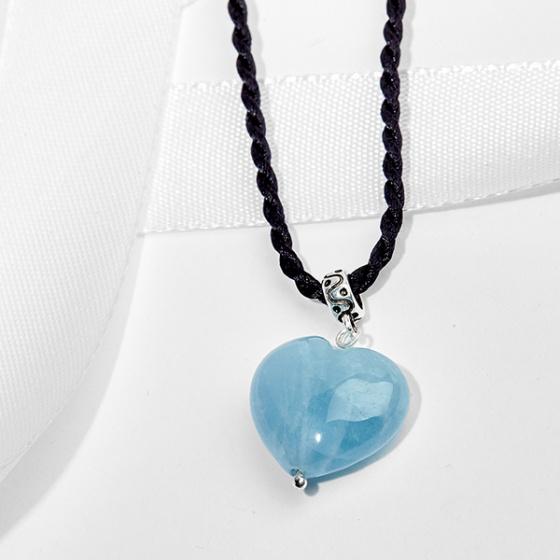 Mặt dây chuyền Aquamarine trái tim