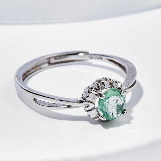 Nhẫn Tourmaline xanh
