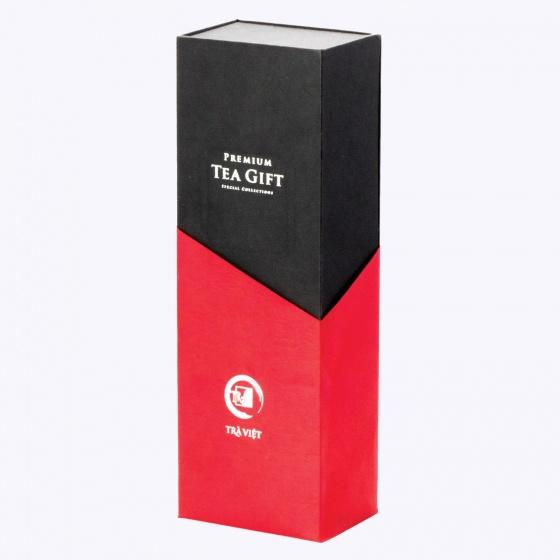 Hộp quà tết trà thiếc 3 gồm trà ô long, nõn tôm, tuyết