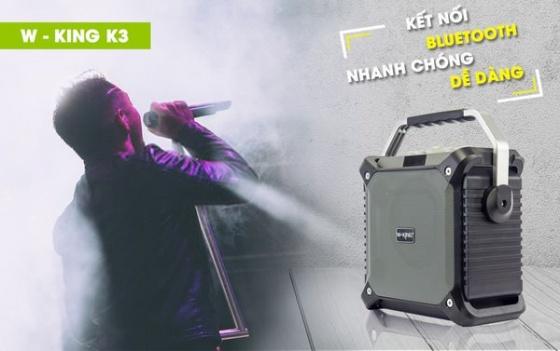 Loa bluetooth xách tay karaoke kèm mic không dây W-king K3
