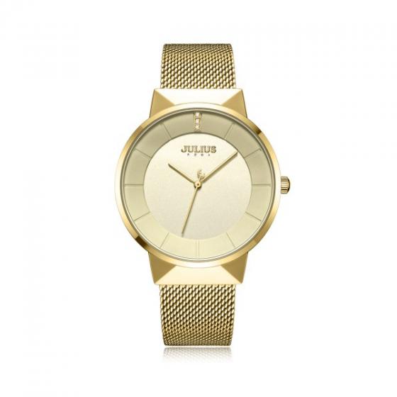 Đồng hồ nam chính hãng Hàn Quốc Julius JA-1104MB (vàng )