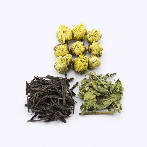 Trà Việt - hộp quà tặng trà kim tự tháp 5 gồm trà sả chanh, bạc hà, oải hương, hoa hồng và hoa cúc