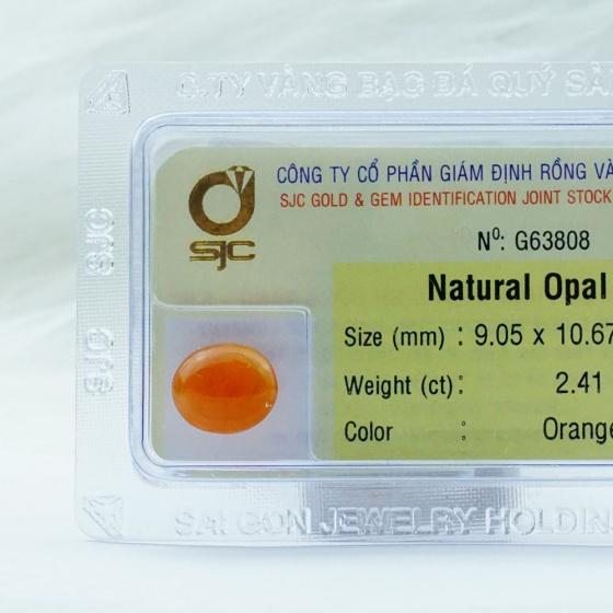 Đá quý opal tự nhiên 9*10 li 63808