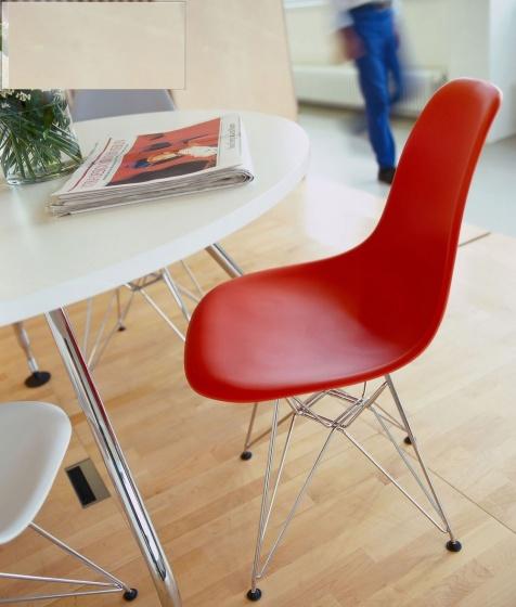 Ghế ngồi Eames chân thép E2 (đỏ)
