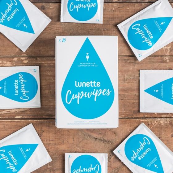 Giấy lau tiệt trùng cốc nguyệt san Lunette Cup Wipe  - Hàng nhập khẩu chính hãng Phần Lan (Hộp 10 gói nhỏ)