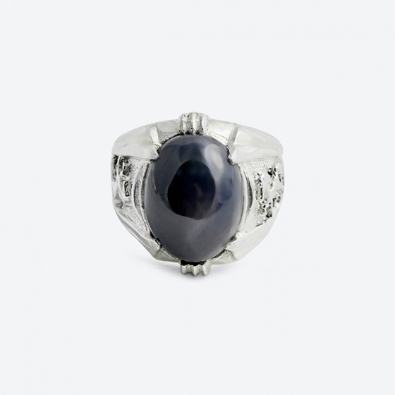 Nhẫn nam đá Saphire