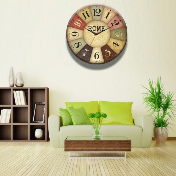 Đồng hồ gỗ tròn tictac - R028 Rome