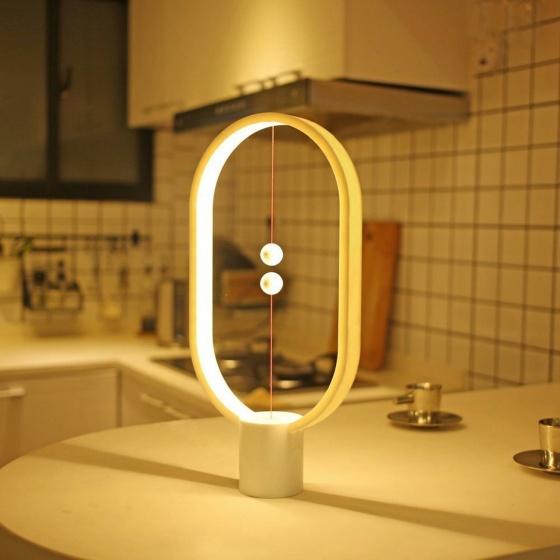Đèn nam châm elip Heng balance lamp nhựa ABS