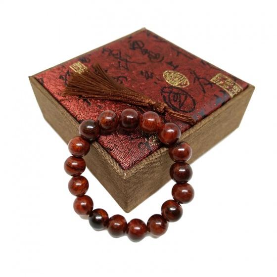 Vòng tay gỗ sưa đỏ 12 ly 17 hạt (size nam)