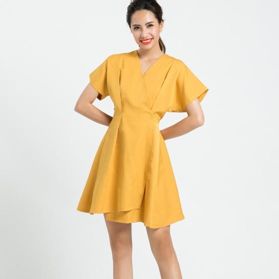 Đầm không tuổi Hity DRE076 (Vàng mù tạt Mustard)