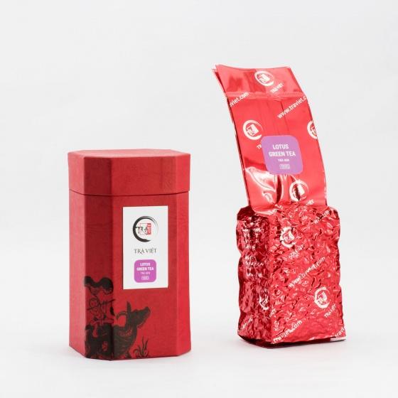 Hộp quà tết trà tri kỷ gồm trà ô long, nõn tôm