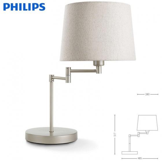 Đèn trang trí để bàn Philips 36132 Donne Table Lamp + Tặng 01 bóng đèn LED Phi lips Ecobright 5W