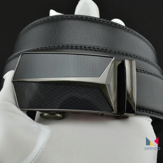 Thắt lưng dây nịt nam da bò 2 lớp Manzo 226 ( tặng móc khóa da bò)