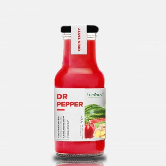 Detox nước ép trái cây tươi dưa hấu, ớt chuông đỏ, gừng, cần tây