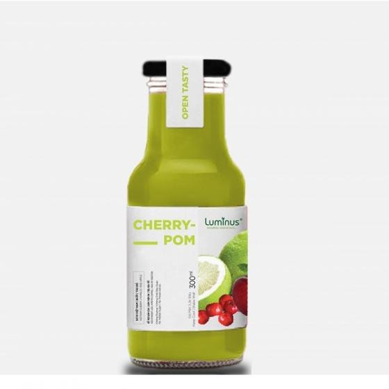 Detox nước ép trái cây tươi sơ ri Việt Nam, bưởi, táo đỏ
