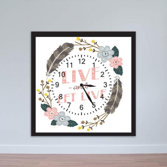 Đồng hồ treo tường hình hoa và lông vũ | Đồng hồ giá rẻ WC004