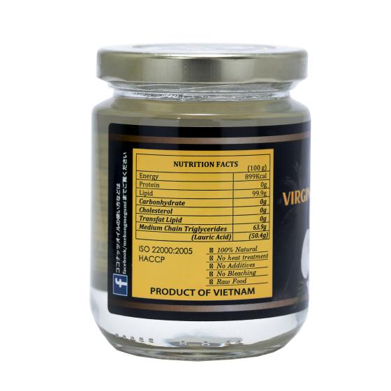 Dầu dừa tinh khiết ép lạnh (Extra Virgin Coconut Oil - Mekông Megumi) - 220ml