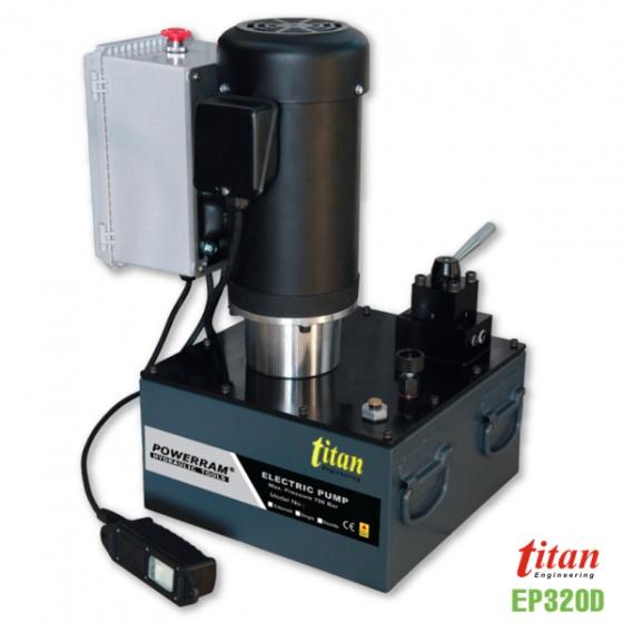 EP320D bơm thủy lực chạy điện dung tích 20 lít, áp suất 700 bar, 2 chiều. Powerram